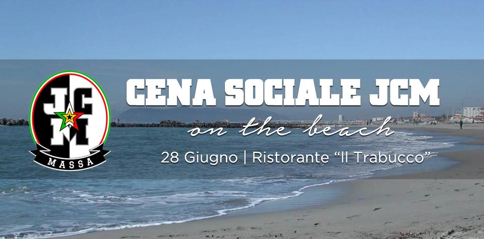 Cena Sociale JCM on the beach