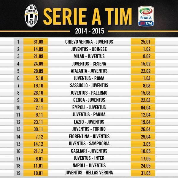 Calendario Anno 2015.Calendario 2014 2015 Juventus Club Massa