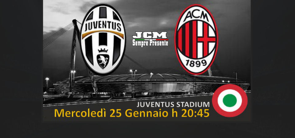 Disponibilità Juventus Milan – Coppa Italia